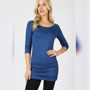 Tops - Want Your Heart tunic top-sapphire